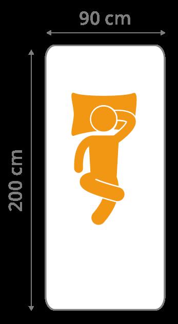 Kindermatratze in der Größe 90x200 Zentimeter
