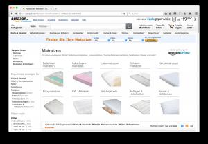 Matratzen im Internet kaufen