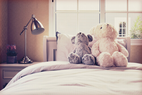 Teddybären Bett Kinderzimmer
