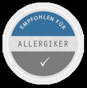 Für Allergiker empfohlen