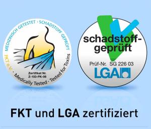 Siegel FKT und LGA zertifiziert