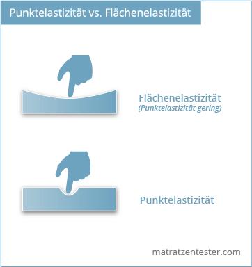 Punktelastizität vs Flächenelastizität