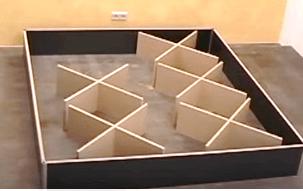 Wasserbett Sockel mit Stützelementen