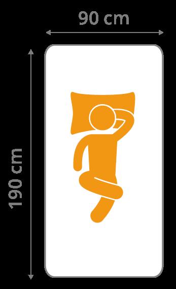 Kindermatratze 90x190 cm